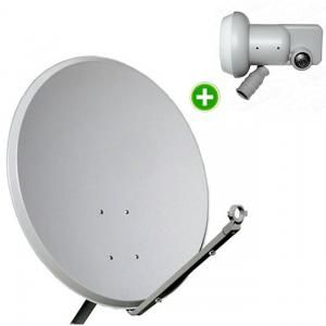 Kit Antena Parabólica Banda KU 60cm + LNBF KU Simples Universal