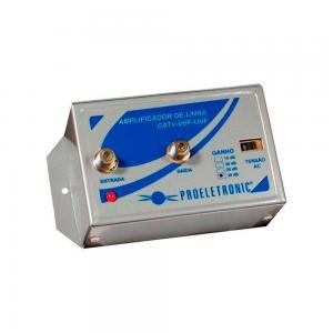 Amplificador de Linha VHF / UHF 30dB - Proeletronic