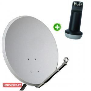 Kit Antena Parabólica Banda KU 60cm + LNBF KU Duplo Universal
