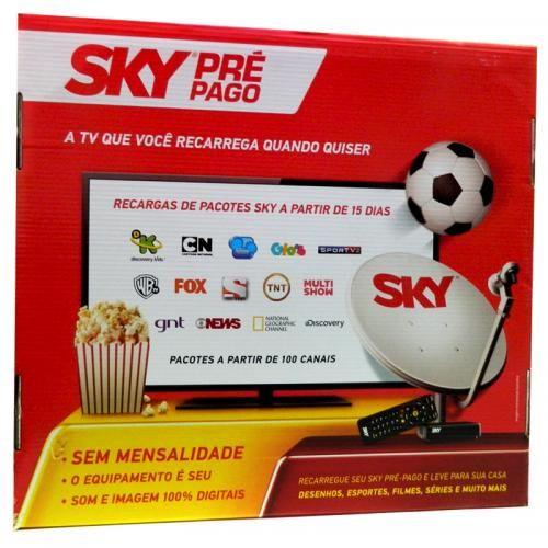 Sky Flex Antena Parabólica 60cm + Receptor Digital