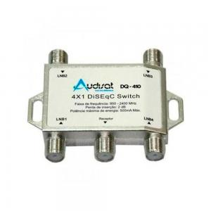 Chave Diseqc P/ Receptor 4x1 - Audisat DQ-410